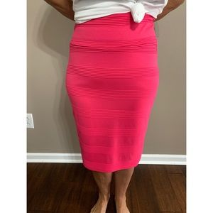 LulaRoe Hot Pink Pencil Skirt